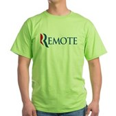 Anti-Romney Remote Green T-Shirt
