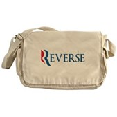 Anti-Romney Reverse Messenger Bag