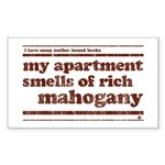 Mahogany Rectangle Sticker