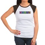 Soccer made of Elements Colors Women's Cap Sleeve T-Shirt