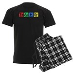 Teacher made of Elements colors Men's Dark Pajamas