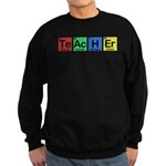 Teacher made of Elements colors Sweatshirt (dark)