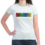 Teacher made of Elements colors Jr. Ringer T-Shirt