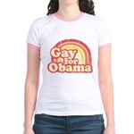 Gay for Obama Jr. Ringer T-Shirt