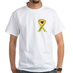 Yellow Ribbon Proud of my Son White T-Shirt