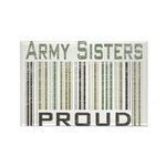 Military Army Sisters Proud Rectangle Magnet