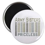Army Sisters Priceless Barcode Magnet