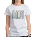 Army Girlfriends Priceless Barcode Women's T-Shirt