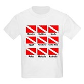 Dive Flags of the World Kids Light T-Shirt
