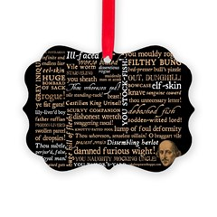 Shakespeare Insults T-shirts & Gifts Picture Ornament