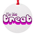 Retro I'm the Treat Round Ornament