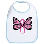 Breast Cancer Butterfly Bib