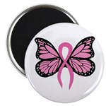 Breast Cancer Butterfly Magnet