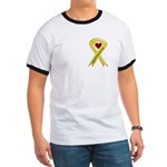 Keep My Daughter Safe Yellow Ribbon Ringer T