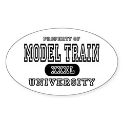 Model Train University  Sticker (Oval)