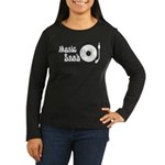 Music Snob Women's Long Sleeve Dark T-Shirt