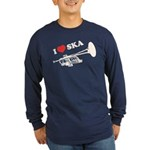 I Love Ska Long Sleeve Dark T-Shirt