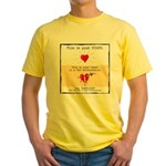 No Bad Relationships! Yellow T-Shirt