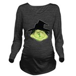 Happy Green Witch Long Sleeve Maternity T-Shirt