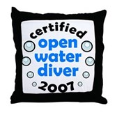 Open Water Diver 2007 Throw Pillow