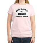 Proud Wife Airborne Soldier Women's Pink T-Shirt