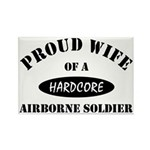 Proud Wife Airborne Soldier Rectangle Magnet (10 p