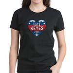Vote Alan Keyes 2008 Political Women's Dark T-Shir