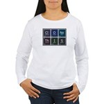 Women's Long Sleeve T-Shirt : Sizes Small,Medium,Large,X-Large,2X-Large  Available colors: White