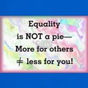 Equality is not a pie T-Shirt
