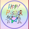 A Very Colorful Passover  circle White T-Shirt