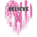 Breast Cancer Believe White T-Shirt