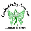 Cerebral Palsy Butterfly 6.1 White T-Shirt