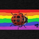LADY BUG Gay Rainbow Art T-Shirt