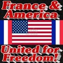 France & America United for Freedom! T-Shirt