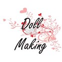 Doll Making Artistic Design with Hearts T-Shirt