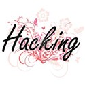 Hacking Artistic Design with Flowers T-Shirt
