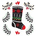 Folk Art Christmas Stocking T-Shirt