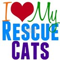 I Love Rescue Cats Shirt