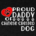 Proud Daddy Of Chinese Crested Dog T-Shirt