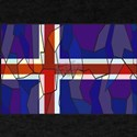 Iceland Flag Stained Glass Window T-Shirt