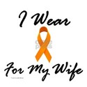 I Wear Orange For My Wife 1 White T-Shirt