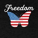 Butterfly Freedom USA Flag Proud American T-Shirt