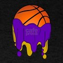 Basketball Team Colors Purple and Gold T-Shirt