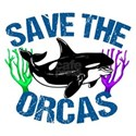 Save the Orcas White T-Shirt