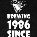 Brewing Since 1986 Beer Fathers Day Gift T-Shirt