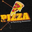 Funny Archery Pizza is Fletching Awesome B T-Shirt