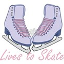 Lives to Skate Ice Skating T-Shirt