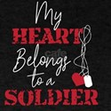 My Heart Belongs To A Soldier American Fla T-Shirt