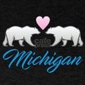 Michigan Polar Bear Heart T-Shirt