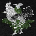 White Rooster Squares T-Shirt